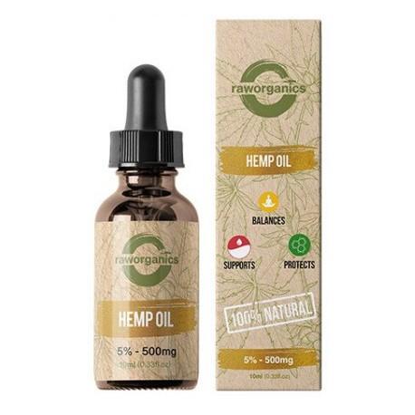 5% CBD - 500 mg - 10 ml - RAW Organics