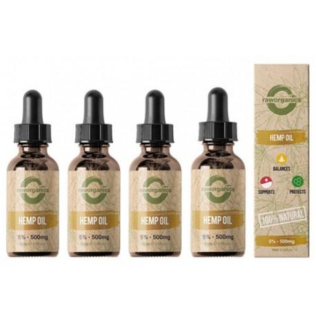 5% CBD - 2.000 mg - 4x10ml - RAW Organics