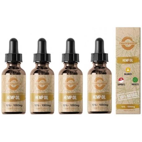10% CBD - 4.000 mg - 4x10ml - RAW Organics